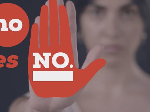 Ayuntamiento de Zaragoza: «No es no, por unas fiestas libres de agresiones sexistas»